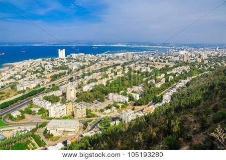 Downtown Haifa, Port And Bay
