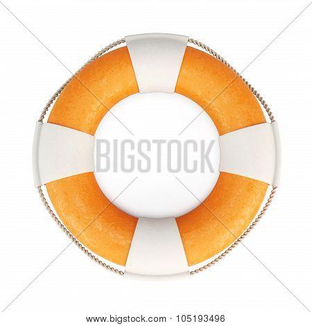 Lifebuoy Isolated On White Background. 3D.