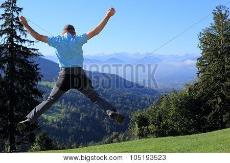 Jumping Up Man