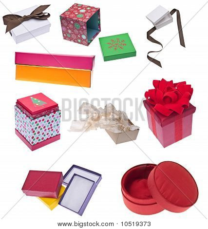 Collection Of Holiday Gift Boxes