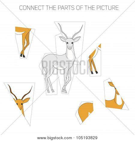Puzzle game for children gazelle