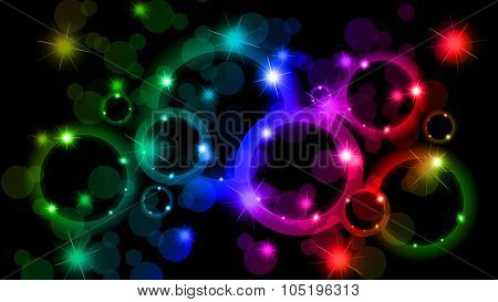 Bokeh Abstract Background Of Different Colors
