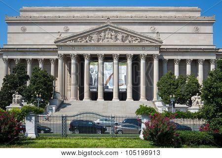 USA, WASHINGTON - AUG 27, 2014: Archives of United States of America.
