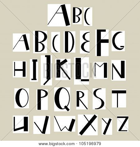 English Uppercase Alphabet Paper Cutout
