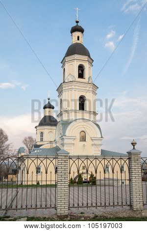 Pezna, Russia - 28 April 2015: Pokrovsky Hierarchal Cathedral