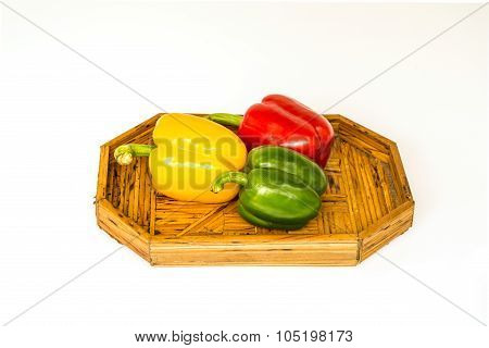 The sweet peppers