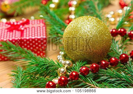 Christmas And New Year Festive Background