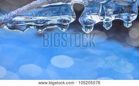 Background with icicles