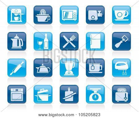 Kitchenware objects and equipment icons
