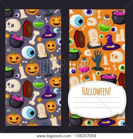 Halloween vertical banners for your design