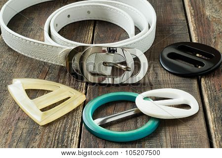 White Belt And Colored Buckle