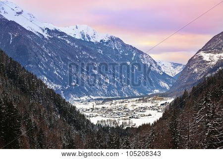 Village Umhausen - Tirol Austria - travel background