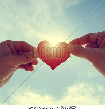 Heart Shape On The Sky