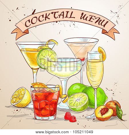The Unforgettables Cocktail menu