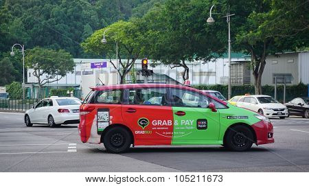 Colorful Taxi In Singapore