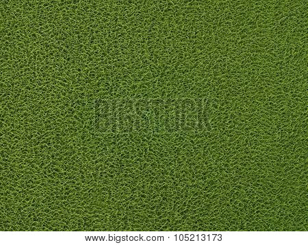 Texture Background Of The Green Plastic Doormat
