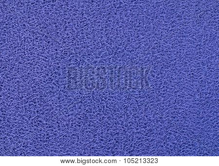 Texture Background Of The Blue Plastic Doormat