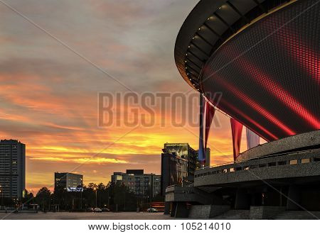 International Conference Centre In The Sunset. Katowice.