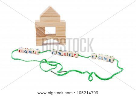 Wooden House And Text