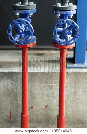 Blue Safety Valves