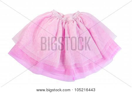 Pink Skirt Isolated On White Background