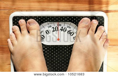 Obese Feet On Scale