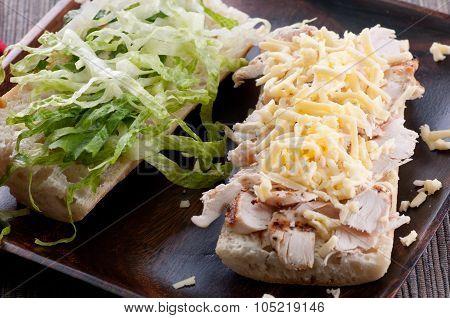 Cheddar Chicken Baguette