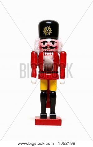 Christmas Nutcracker On White
