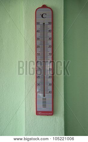 Household Thermometer Showing Temperature In Degrees Celsius