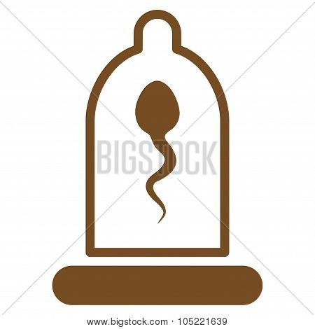 Sperm In Condom Icon