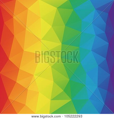 Color Spectrum Abstract Geometric Rumpled Triangular Background Low Poly Style