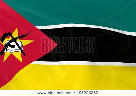 Waving Flag Of Mozambique - 3D Render Of The Mozambican Flag With Silky Texture