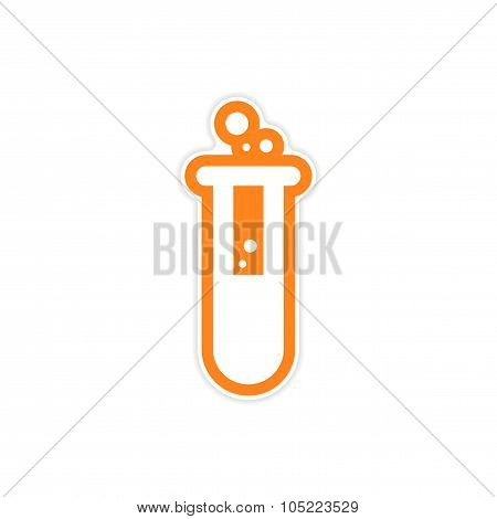 Sticker flask with substance as logo or icon of Halloween