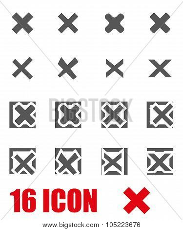 Vector grey rejected icon set