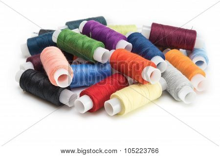 Multicolored Threads For Sewing On Spools