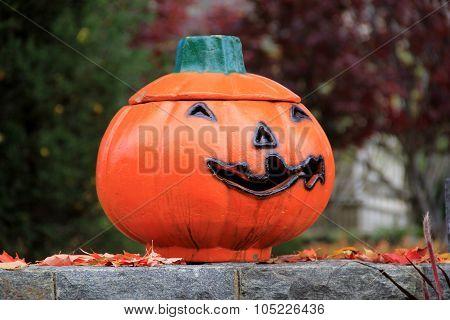 Big, grinning Jack-o-lantern
