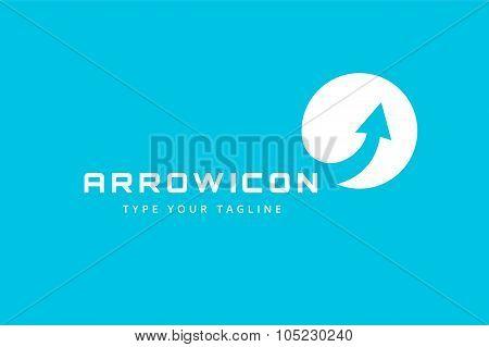Vector arrow icon logo template