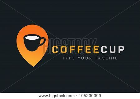 Vector coffee cup logo template