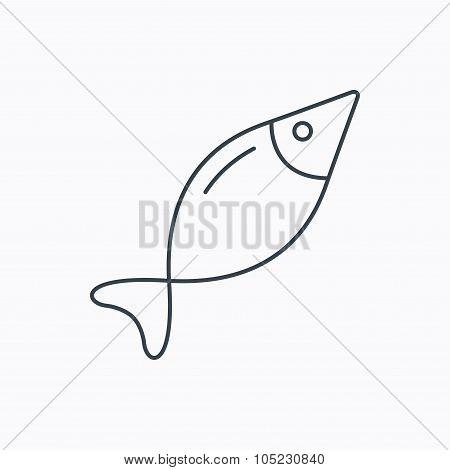 Fish icon. Fishing sign.