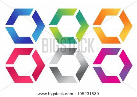 Abstract square logo vector template