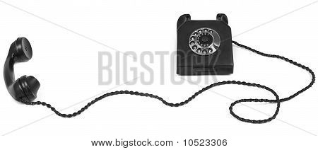 Bakelite Telephone With Long Cable