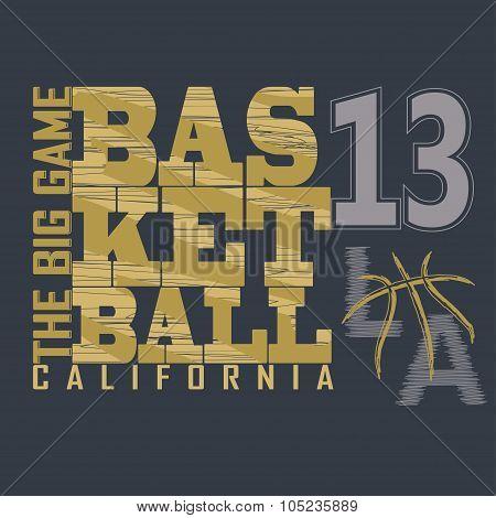 Basketball t-shirt graphic design