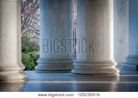 Columns at Jefferson Memorial