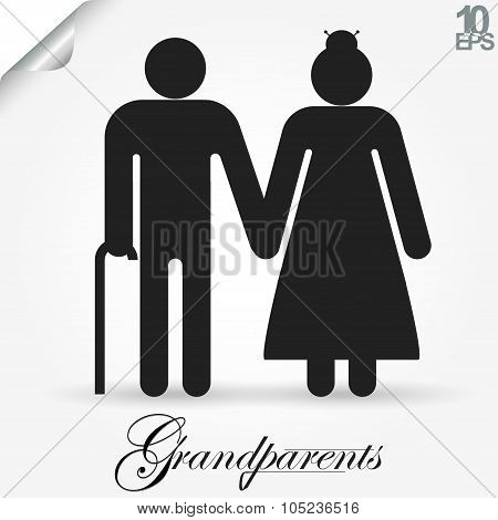 Grandparents vector illustration