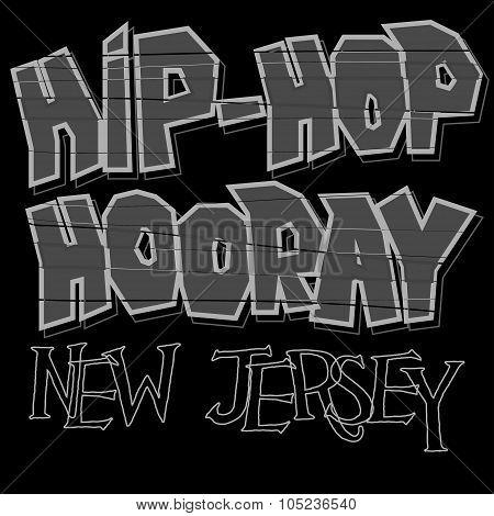 Hip-hop style t-shirt