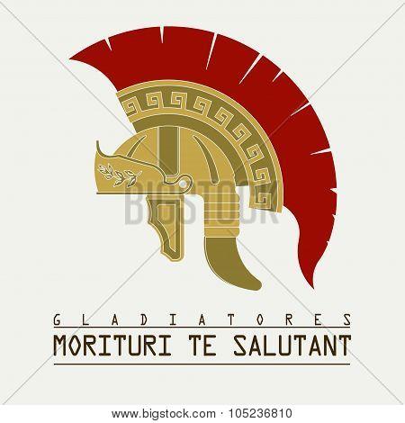 Gladiator helmet,  Roman legionnaire - vector