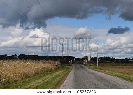 road thru farm land