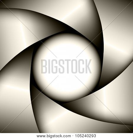 Abstract Background with camera lens shutter, vector illustration.