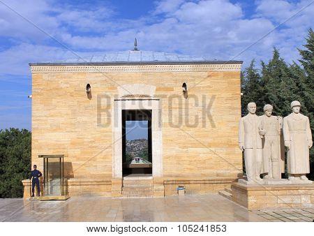 Ankara, Turkey, 28 september, 2015 - Anitkabir mausoleum of Ataturk, Ankara