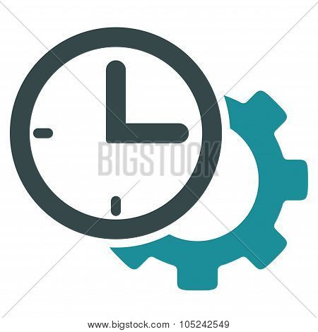 Time Setup Flat Icon